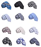 Skinny Tie Madness Men's Fashion Bundle of 12, 2'...