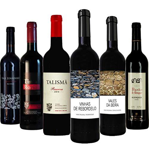 """Rotwein Probierpaket\""""Preisknaller aus Portugal\"""" trocken (6x 0,75 l)"""