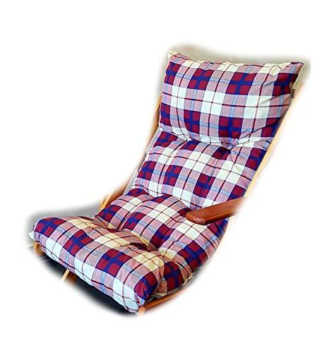 Totò Piccinni Cuscino Imbottito di Ricambio per Poltrona Sedia Sdraio Harmony Relax, 105x55x14cm (Bordeaux)
