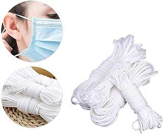 colore: bianco 20 m 3 mm fai da te Cordoncino elastico per orecchie accessori per abbigliamento scarpe e cappelli lavori a maglia per cucito
