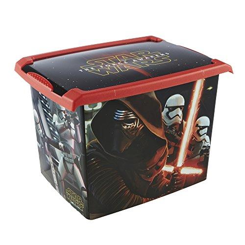 Keeeper Star Wars opbergdoos met deksel, 39 x 29 x 27 cm, 20,5 l, Filip, zwart