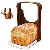 Rebanadora de Pan, Corte de pan Plegable para Hornear pan Sandwich pan Cortadora pan Tostado Rebanada Cortador Rodajas Incluso Herramienta de la Guía
