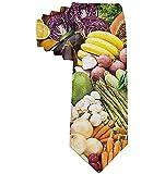 Hombres Verduras Comida vegana Corbata de frutas Poliéster Seda Suave Negocio Caballero Corbata Corbata