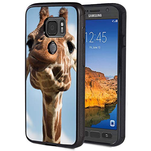 Galaxy S7 Active Case,Funny Giraffe Anti-Scratch Shock Proof Black TPU and PC Protection Case Cover for Samsung Galaxy S7 Active