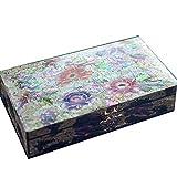 ALIANG Caja de Almacenamiento China de Madera Caja de Collar de Laca Caja de Almacenamiento de joyería de joyería Vintage de Madera