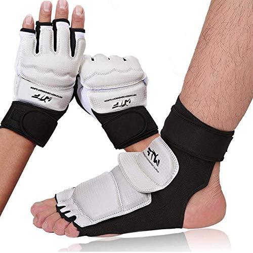 OUYA Halbfinger Boxhandschuhe Set, mit einstellbaren Armbandband für Männer Frauen Knöchelschutz für Sparring Training Bunching Bag Kickboxing Fitness Handschuhe,XS