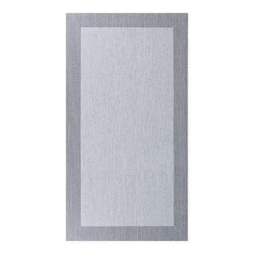 Alfombra vinílica Deblon – Alfombra de PVC Antideslizante y Resistente, Ideal para salón, Cocina, baño… ¡Disponible en Medidas Grandes y más Colores! (80cm x 150cm, Gris Claro)