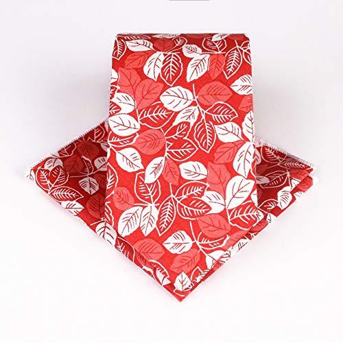 PGDD katoenen dassen set, bloemenstropdas katoen druk vierkante sjaal zakdoek stropdas