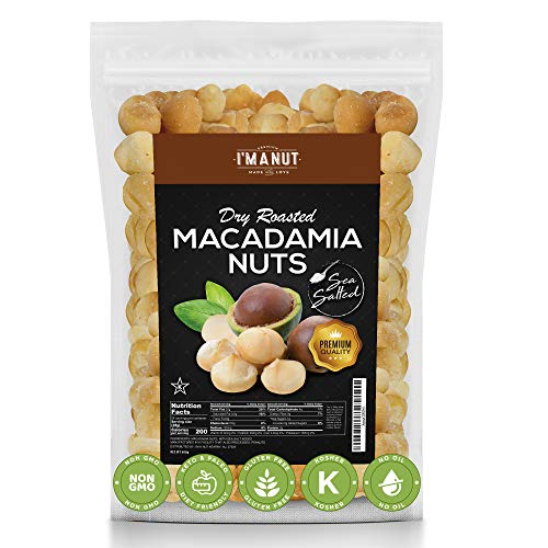 Oven Dry Roasted Macadamia Nuts, with Sea salt, 1.5Lbs, Fancy Whole, No Oil | No PPO | Made from 100% Natural Macadamia Nuts