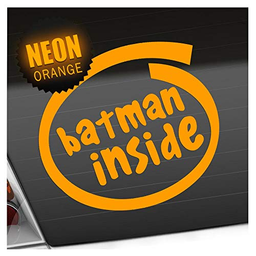 Batman Inside–3tailles disponibles pare-brise arrière Colle Sur carsticker Decal