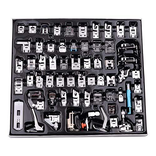 Decdeal Kit de 62 Piezas Multifuncional Prensatelas Accesorios para Máquina de Coser...