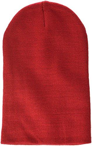 MSTRDS Bonnet Unisexe Basic Flap Version Longue. M Rouge