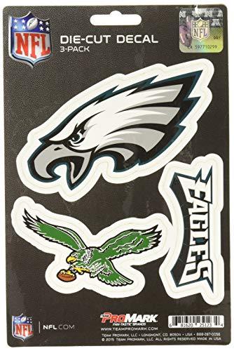 NFL Philadelphia Eagles Team Decal, 3-Pack