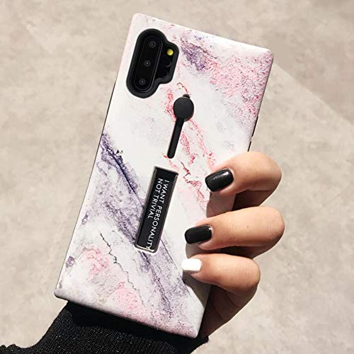 Omio for Galaxy Note 10 Plus Marble Case Shockproof Cover for Galaxy Note 10 Plus 5G Loop Case Ring Grip Holder Kickstand Finger Circle Strap Smooth Anti-Scratch Case for Galaxy Note 10+/Note 10+ 5G