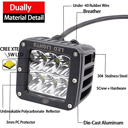 House Tuning 30W 3inch LED Spotlights LED Off Road Lights with Wiring Switch for Trucks JK 4WD 4x4 Boat Ford150 Motorcycle ATV UTV (Pack of 2)