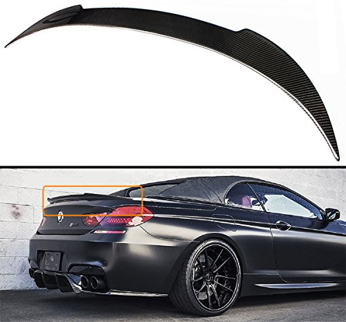 Cuztom Tuning Fits for 2012-2017 BMW F12 F13 640i 650i M6 Coupe & Convertible V Style Carbon Fiber Trunk Spoiler Wing Lid