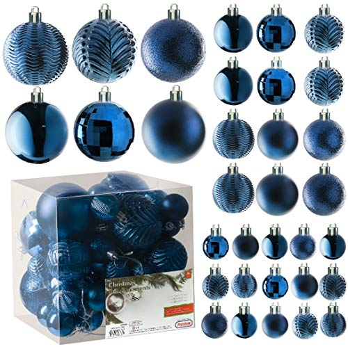 Prextex Midnight Blue Christmas Ball Ornaments for...