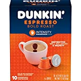 Dunkin' Espresso Bold Roast Coffee, 40 Count Capsules for Espresso Machines, 9 Intensity