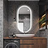 Wall mirror Espejo de baño Inteligente Ovalado a Prueba de explosiones HD con...
