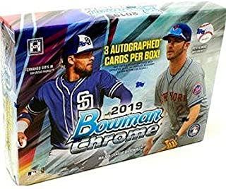 2019 Bowman Chrome Baseball HTA Box (3 Autographs)