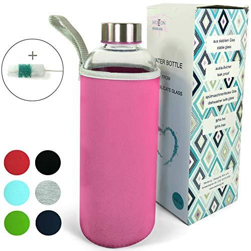 Wenburg Wolton Botella de Vidrio 550 ml / 750 ml + Cepillo...