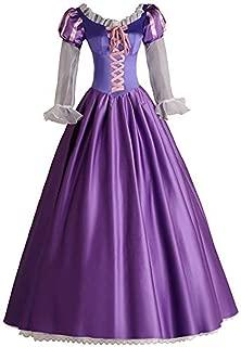 Angelaicos Womens Princess Costume Party Long Purple Victorian Dress