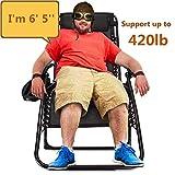 EZCHEER Zero Gravity Chair Oversized,420 lbs Weight Capacity Patio Lounge...