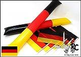 molinoRC 6X Deutschland-Fahne + 2X Klatsche | EM2020 | Stockfahne | Fan-Set | Kinder-Fahne BRD | Clappers | Deutschland-Flagge | | | |