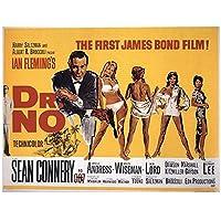 ZNNHEROJames Bond007クラシック映画のポスターとプリントウォールアートリビングルームの装飾のためのキャンバス絵画-60X80Cmx1フレームなし