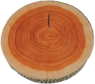 Creative Wood Log Pillow Tree Stump Cushion Sleeping Chair Natural Seat Pad 6N