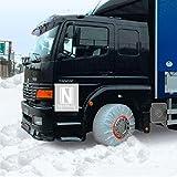ISSE c800102Tribologic Textil–Cadenas de Nieve camión, Color Blanco, tamaño: 102