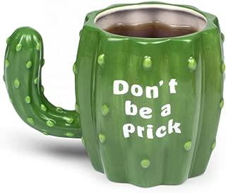 KKGO Cactus Coffee Mug Tea Cups with Handle - Don't be a prick Mugs, Novelty Cactus Coffee Mug or Use as Flower Planters Succulent Pots, Ceramic 12 OZ