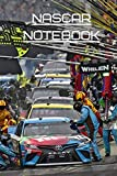 Nascar Notebook 6x9 100 pages: 6x9 100 page a5 notebook journal composition notepad diary planner lined ruled cheap fun sports race car racecar sports ... lamborghini mercedes audi ferrari porsche.