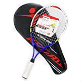 Raqueta de tenis de 23 pulgadas para niños, juego de raqueta de tenis de aleación de aluminio, raqueta de equilibrio para principiantes, con estuche de transporte premium, que incluye 1 raqueta