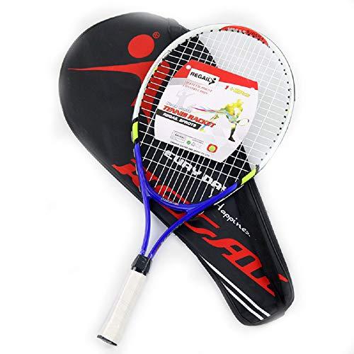 Racchetta da tennis 23 '' per bambini, set di racchette da tennis in lega di alluminio, racchetta leggera pre-incordata per principianti, con custodia di trasporto premium, inclusa 1 racchetta