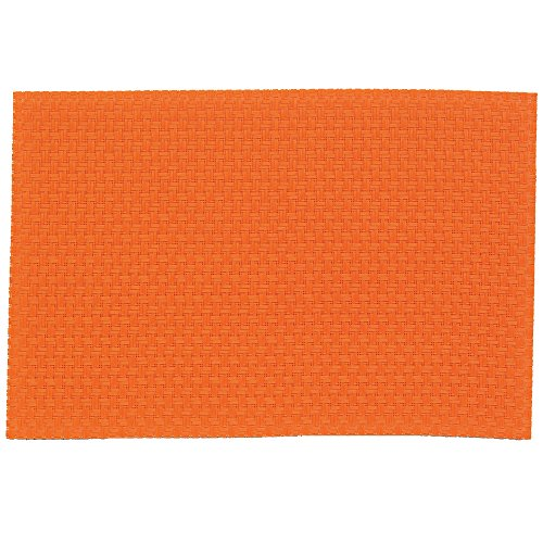 Kela 11367 Plato Set de table PVC/Polyester Orange 45 x 30 x 1 cm