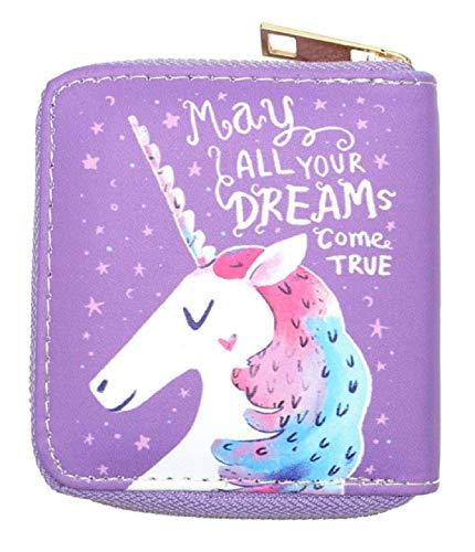 Cartera Monedero Unicornio - Mujer - Niña - Morado - Idea regalo