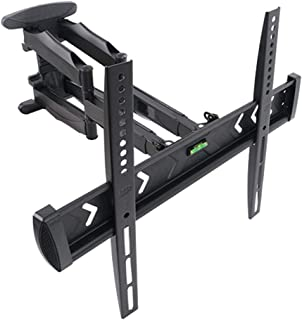 TV Stand Hinged Arm LCD TV Retractable Wall Mount Full Dynamic Rotatable HDTV Bracket (Color : Black, Size : 55 * 40 * 6cm)