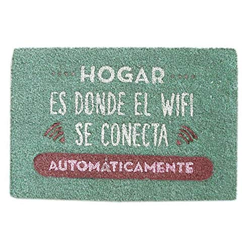 Casa & Mas deurmat voor ingang, antislip, van natuurlijke kokosvezel, 40 x 70 cm 40 x 70 cm Rosa Roja