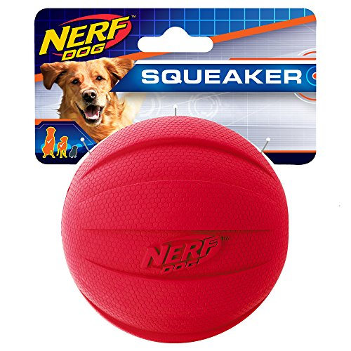 Nerf Dog Squeak Ball, 4.25 Pulgadas, Rojo