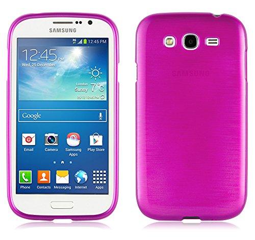 Cadorabo Funda para Samsung Galaxy Grand DUOS/Grand Neo en Fucsia - Cubierta Proteccíon de Silicona TPU Delgada e Flexible con Antichoque - Gel Case Cover Carcasa Ligera