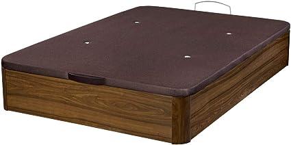Santino Canapé Abatible Wooden Gran Capacidad Nogal 90x190 cm con Montaje a Domicilio Gratis