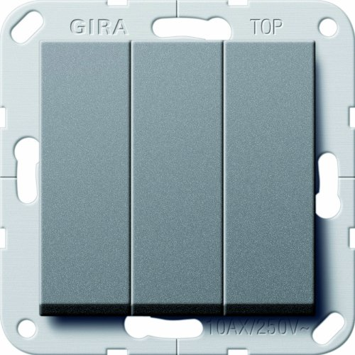 Gira 283228 Wippschalter Wechsel 3-Fach System 55 Anthrazit