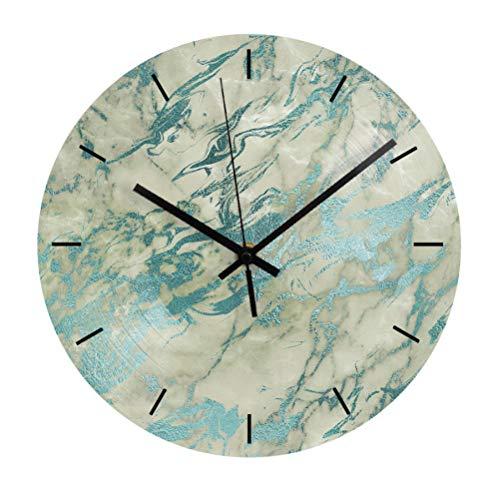 Wandklok Klok Dempen Marmeren Textuur Decoratie Wandklok Modern Design Van Woonkamer Woondecoratie