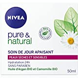 Nivea Pure et Natural Soin de Jour Apaisant Peaux Sèches et Sensibles 50 ml