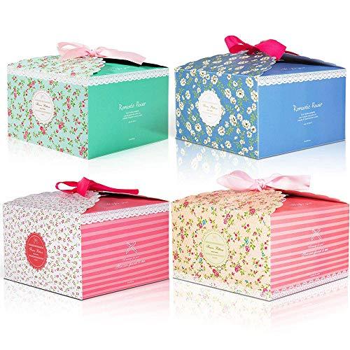 ysister 8 Stück Geschenkboxen, Bunt Kästchen Geschenkschachtel in 4 Farbe, Pralinenschachtel Leer Geschenkverpackung Überraschungsboxen für Kuchen, Kekse, Cupcakes Aber auch Geschenke Aller Art