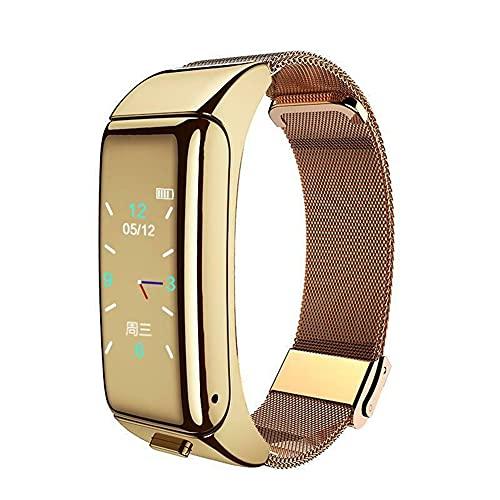 GKMM Banda Inteligente, Pulsera de Auriculares Bluetooth, Seguimiento de la Actividad con monitoreo de Salud de Ritmo cardíaco, Reloj Inteligente de Pulsera Auricular Bluetooth, Pantalla táctil
