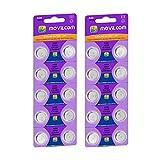 MovilCom® - 20 Pilas botón AG9 Pilas Reloj 1.5V Equivalente a 394, SR936SW, V394, D394, 625, SR936, 394/380, LR936