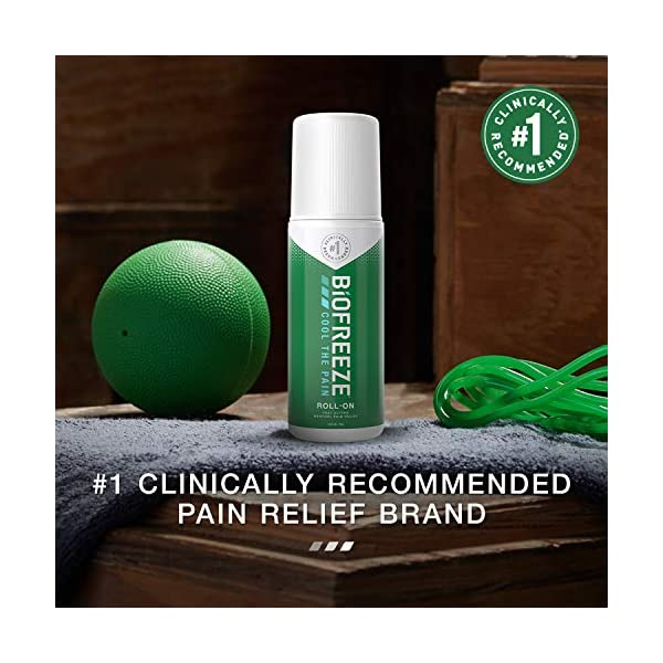 Biofreeze Pain Relieving Roll-On, 89 ml, Cooling Topical Analgesic, On-the-Go Use, Long Lasting, Soothing, Targeted Pain…