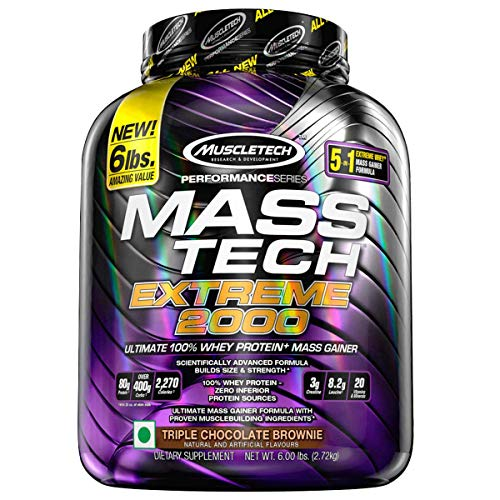 Muscletech Performance Series MT Extreme 2000 Mass Gainer - 6lbs (2.72kg) (Triple Chocolate Brownie)